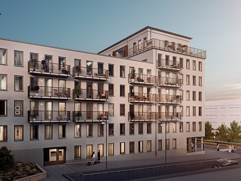 Brf Diktaren, Stockholm, Sweden-Residential building & primary school designing