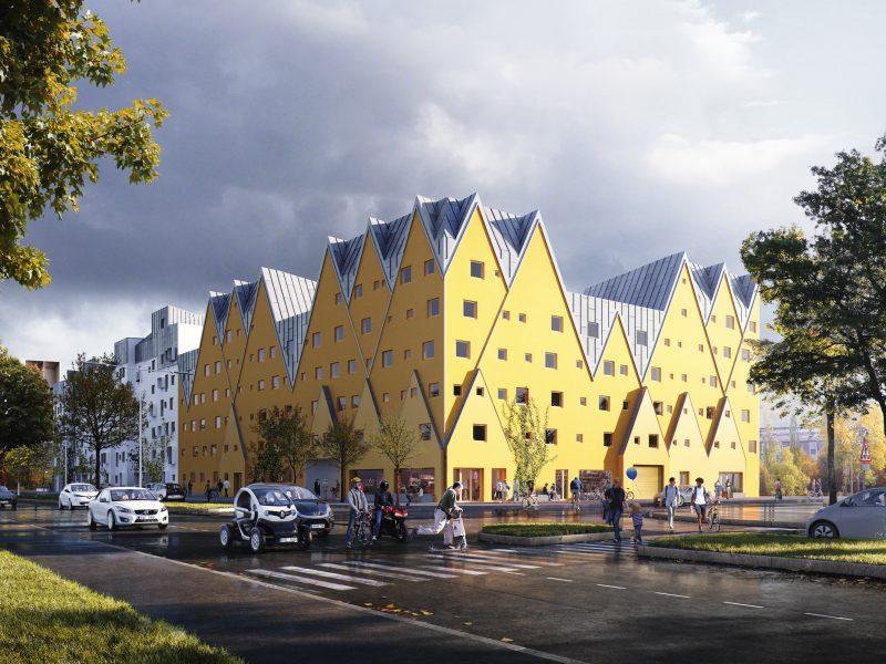 Östra Sala Backe 2, Uppsala, Sweden – Residential building, Restaurant, Cafe designing